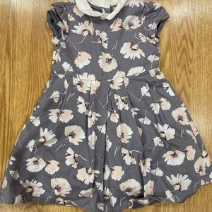 Janie and Jack cute Girl Gray Floral dress